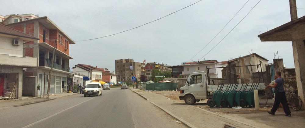 Your average Albanian town. One of the nicer ones as I was happier getting my phone out.