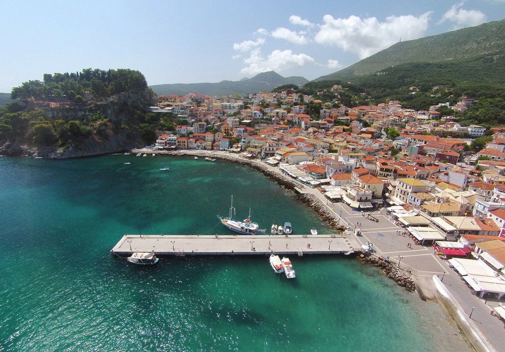 The northern bay of Parga