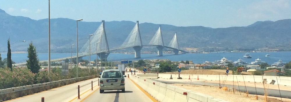 Bridge on E65 linking Peloponnese to the mainland