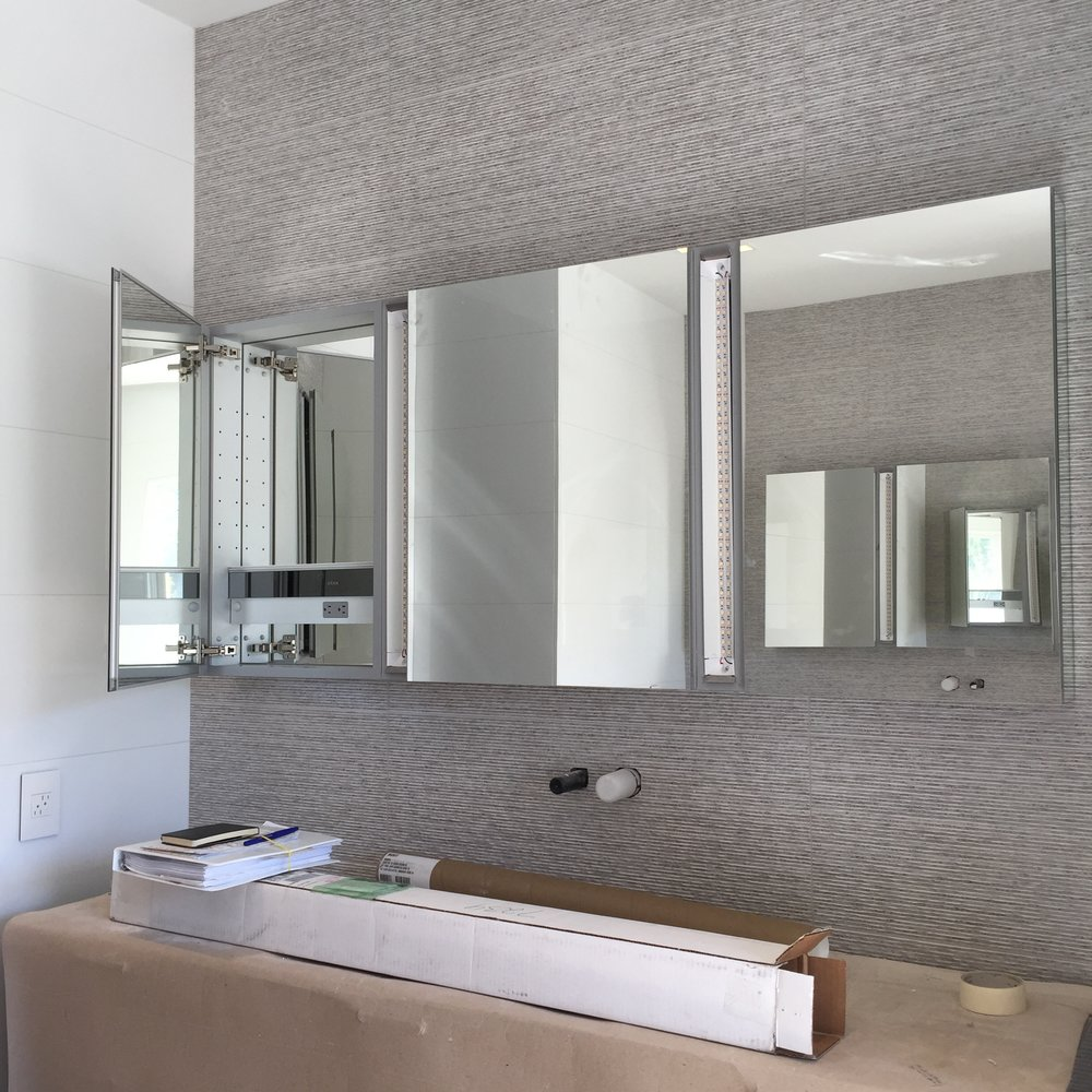 ROBERN M Series  Mirror Cabinets,  Porcelanosa  Wall Tile