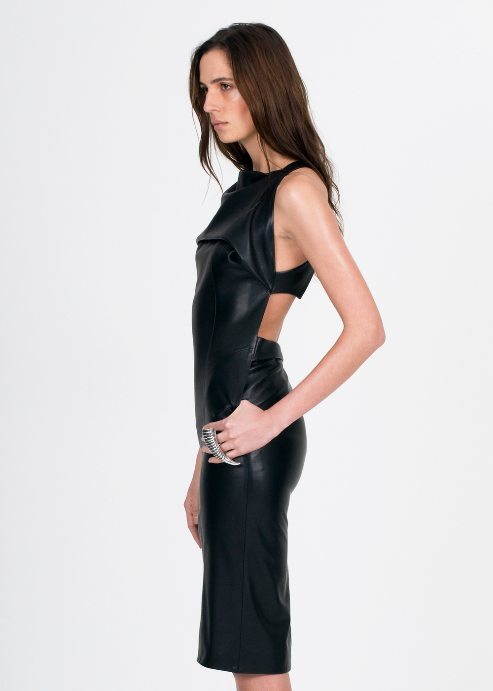 WALDMANN leather apron dress