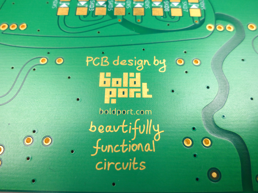 A Boldport board manufactured by Cambridge Circuits