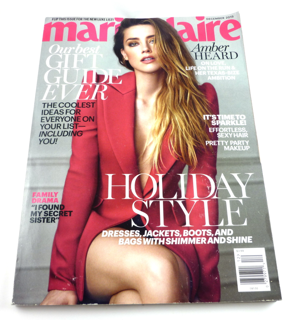 The work appears in the December 2015 issue of Marie Claire US