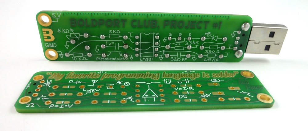 Several people soldered the components on the wrong side while assembling this board