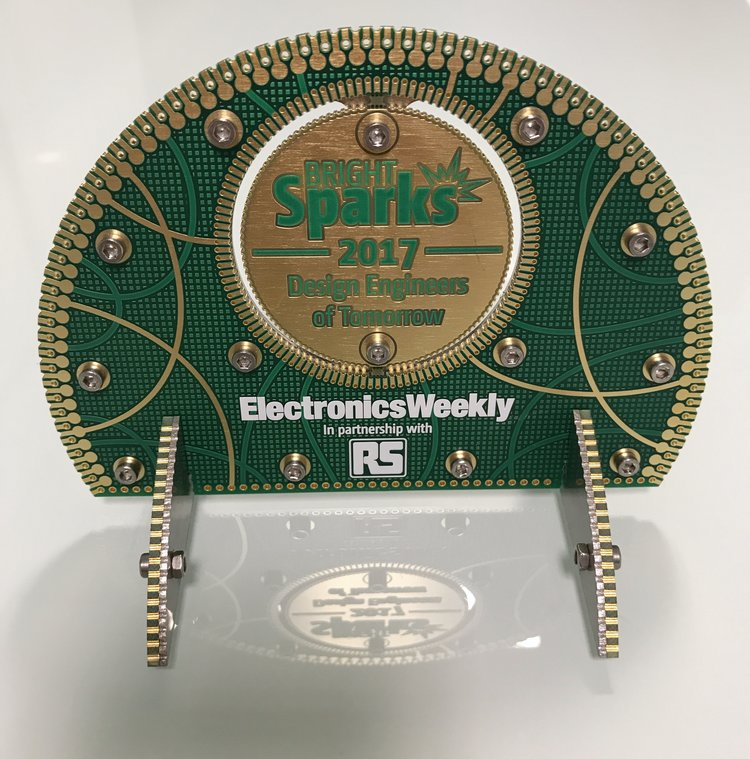 Trophy  we designed for ElectronicsWeekly and RS components