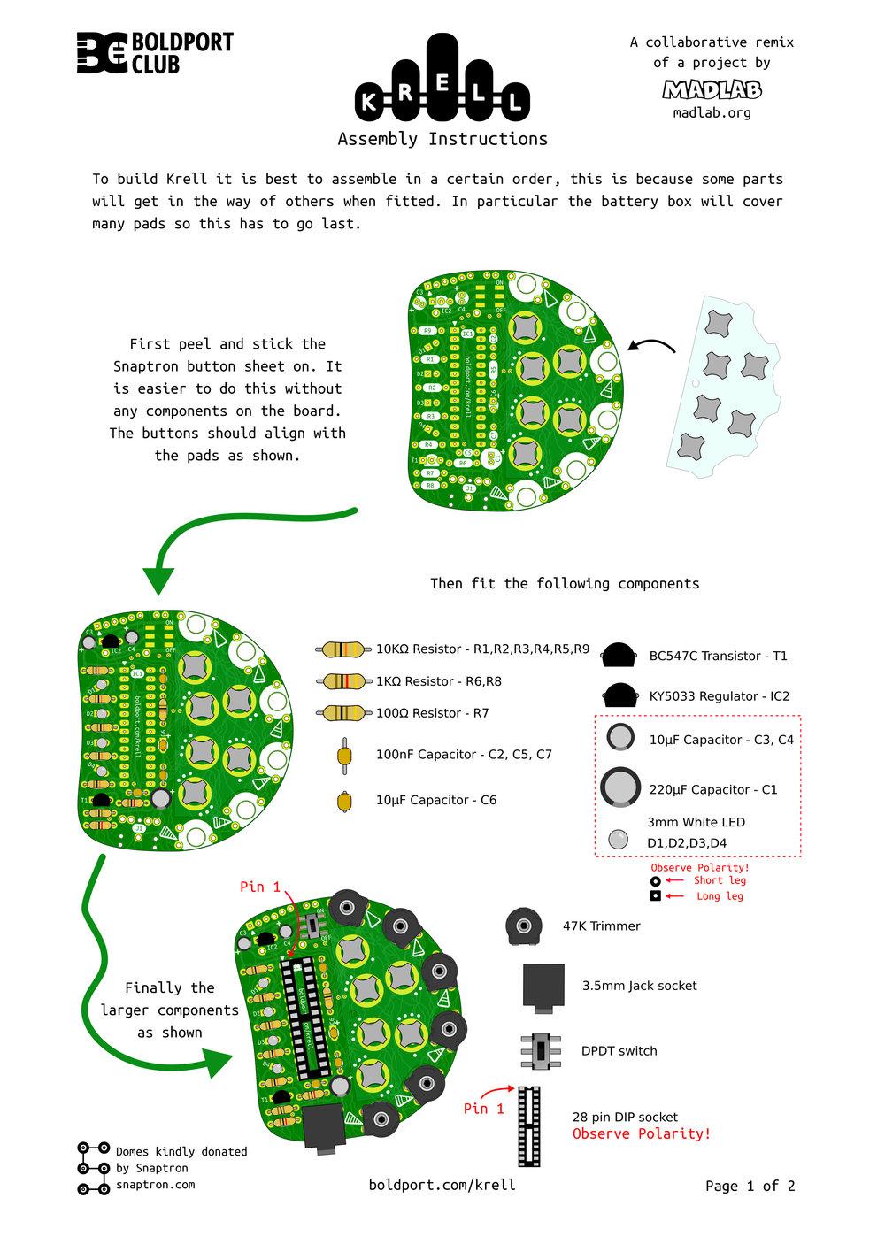 Assembly instructions - Page 1 |  PDF