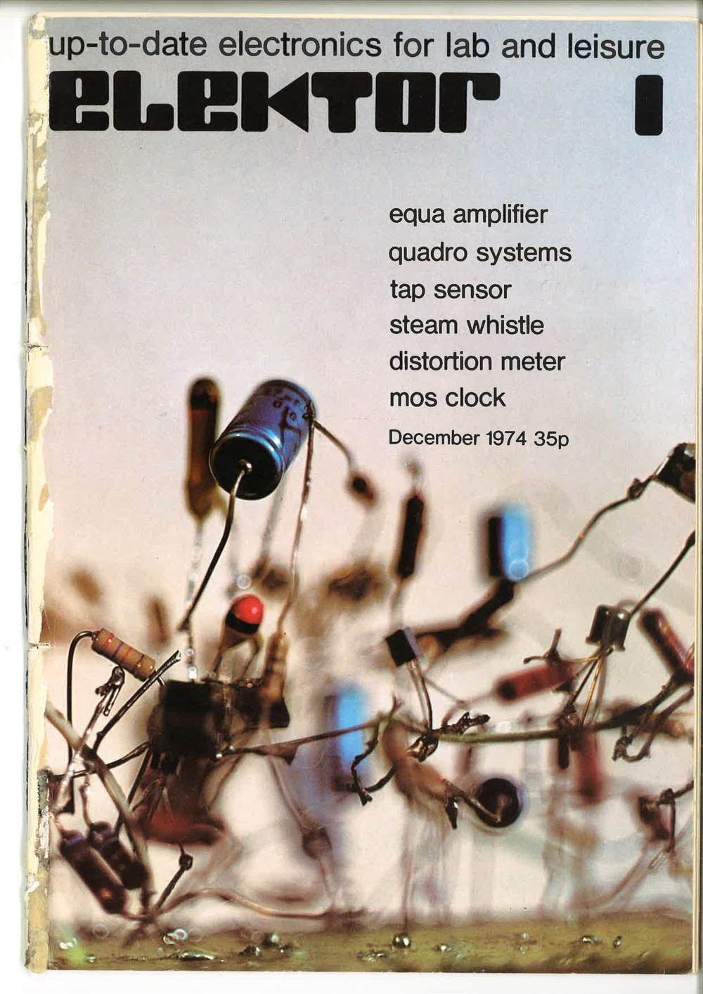 The cover of the first Elektor English edition, December 1974.