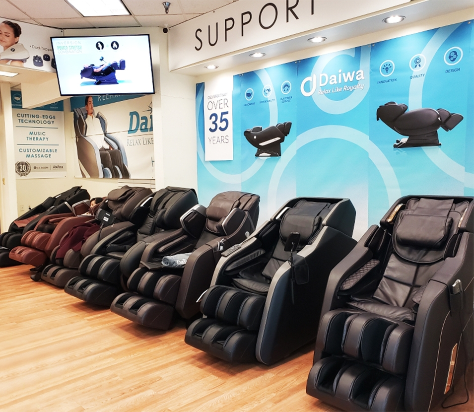 LAS VEGAS SHOWROOM OPEN!GET FREE GIFT with your purchase! - To celebrate our showroom opening, we are offering a FREE GIFT with any purchase at our Las Vegas showroom! Just let the sales person know that you saw this webpage when you buy. Being an active member of the Las Vegas community is really important to us. We are here to serve you. In addition to being able to try out our massage chairs in person, you'll have the opportunity to talk with our experienced massage chair experts, and meet other people who have also discovered the benefits of being a massage chair owner.Health & Wellness Factory Store (Located inside SF Supermarket)4801 Spring Mountain Rd. Unit D Las Vegas, NV 89102 Phone: 702.929.7011   Email: nvoffice@usjaclean.com