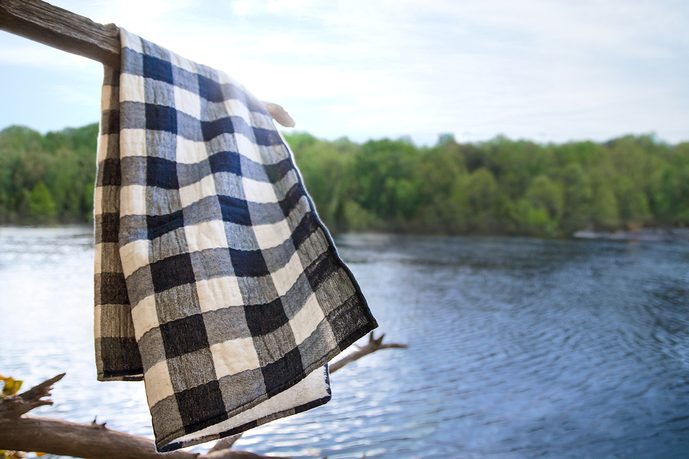 The Vintage Check towel.