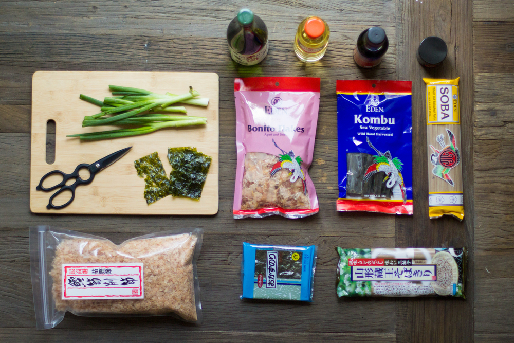 Our Soba and Dashi ingredients