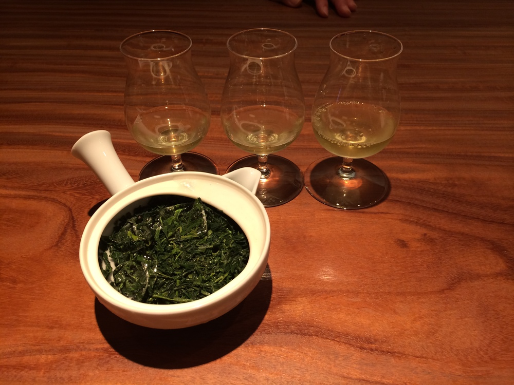 Refreshing sencha tea.