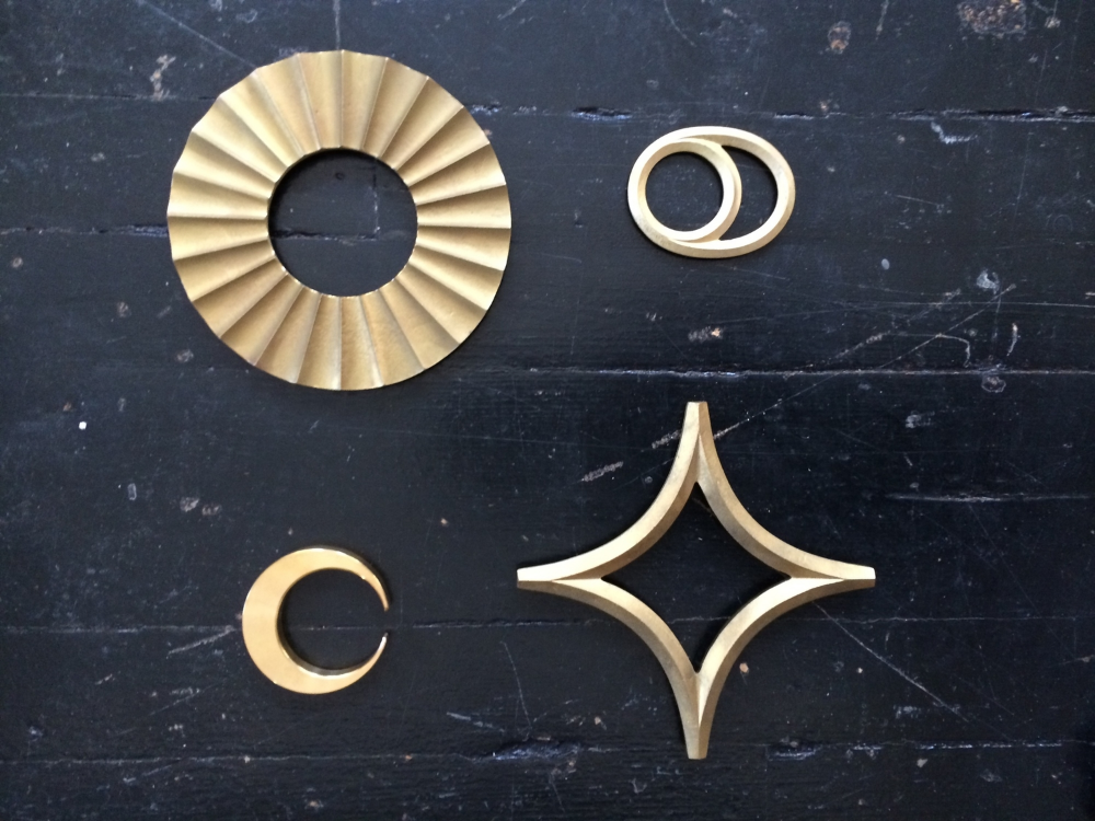 Futagami Brass trivets and bottle openers.