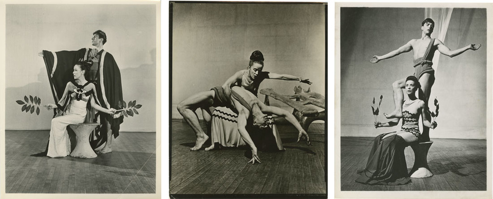 Promotional images for Night Journey, photographer unknown. Images owned by the  Martha Graham Dance Company.
