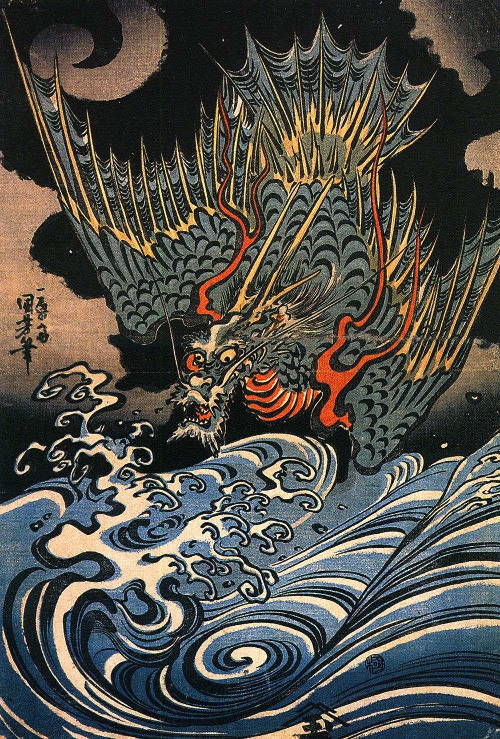 Dragon, Utagawa Kuniyoshi