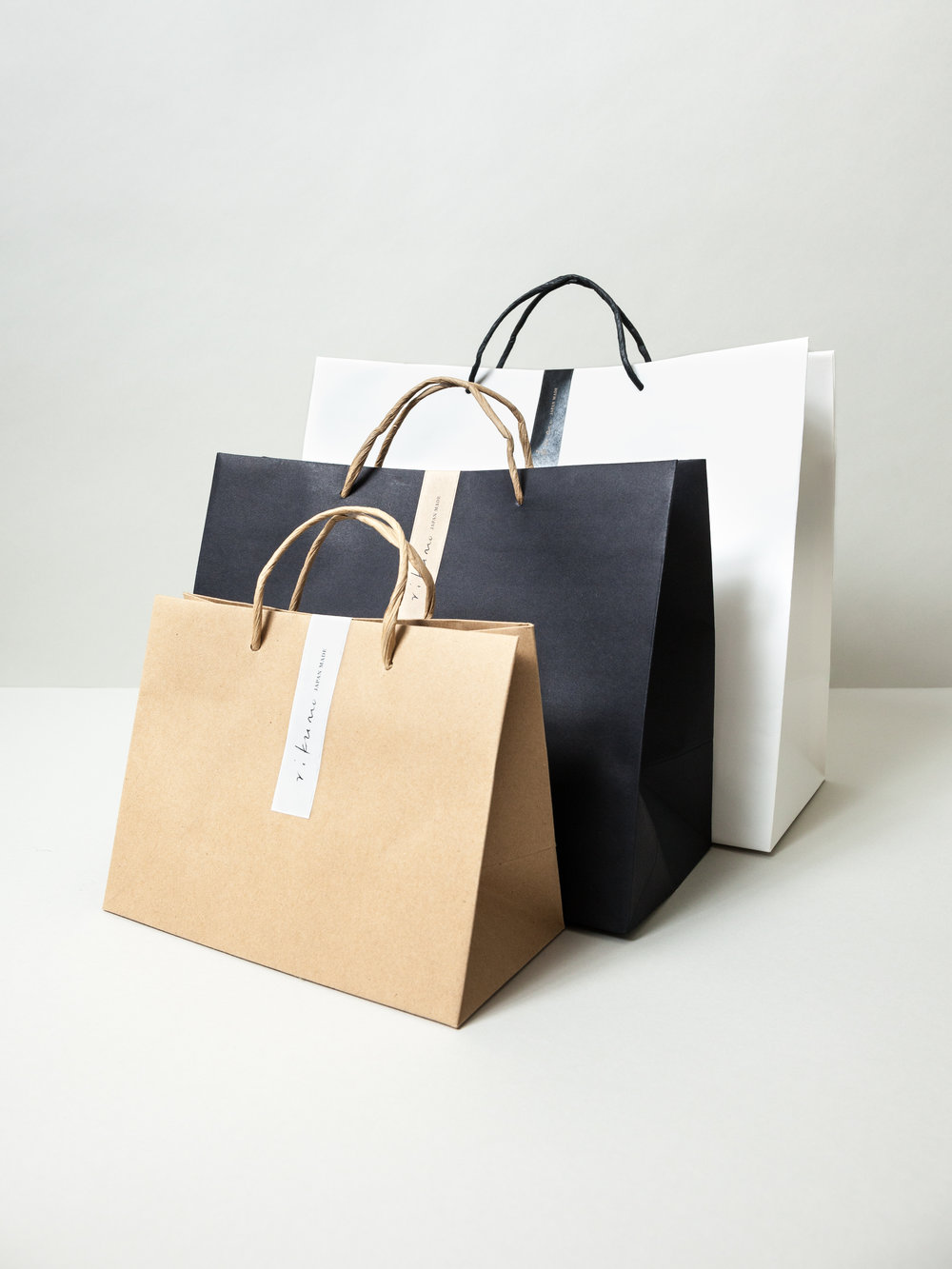 Our brand new Fukubukuro bags come in six different sizes and three different bag styles.