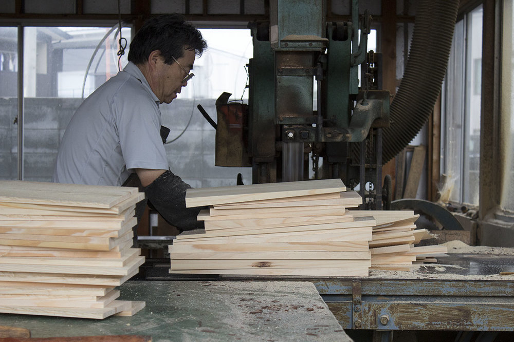 A craftsman at the Kizara facility in Gunma, Japan.