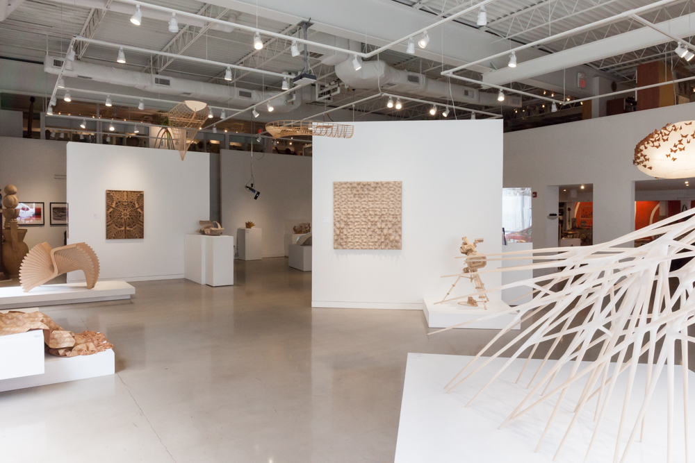 A view of the Center for Art in Wood's main gallery.