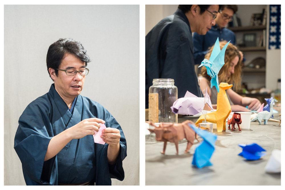Origami expert Taro Yaguchi