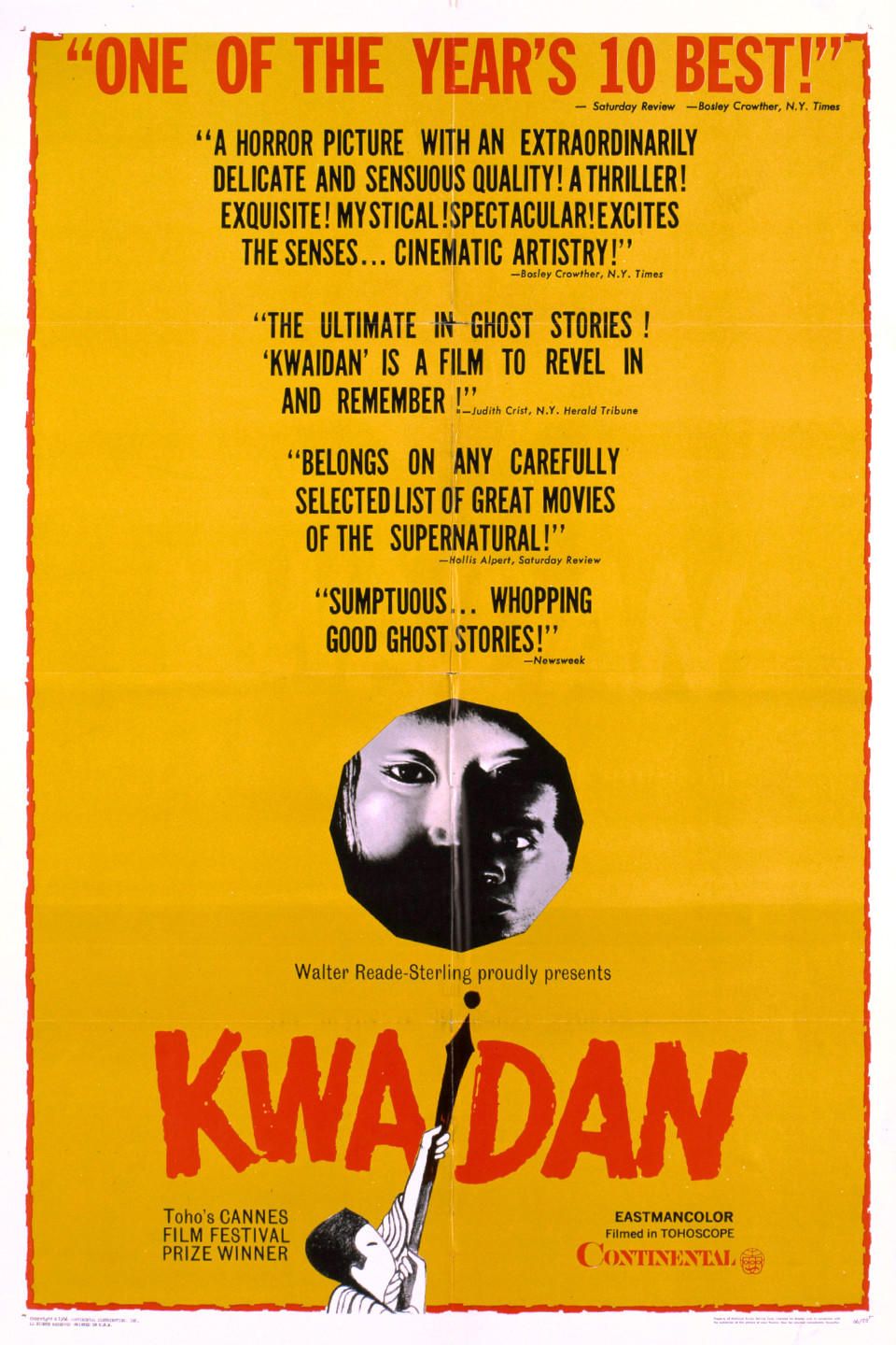 A poster for the film anthology  Kwaidan . Credit.