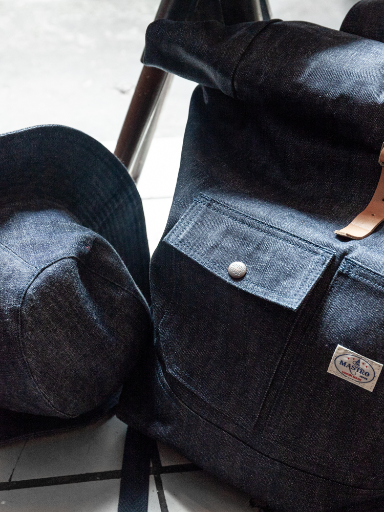 A selection of Japanese denim products from Mastro.