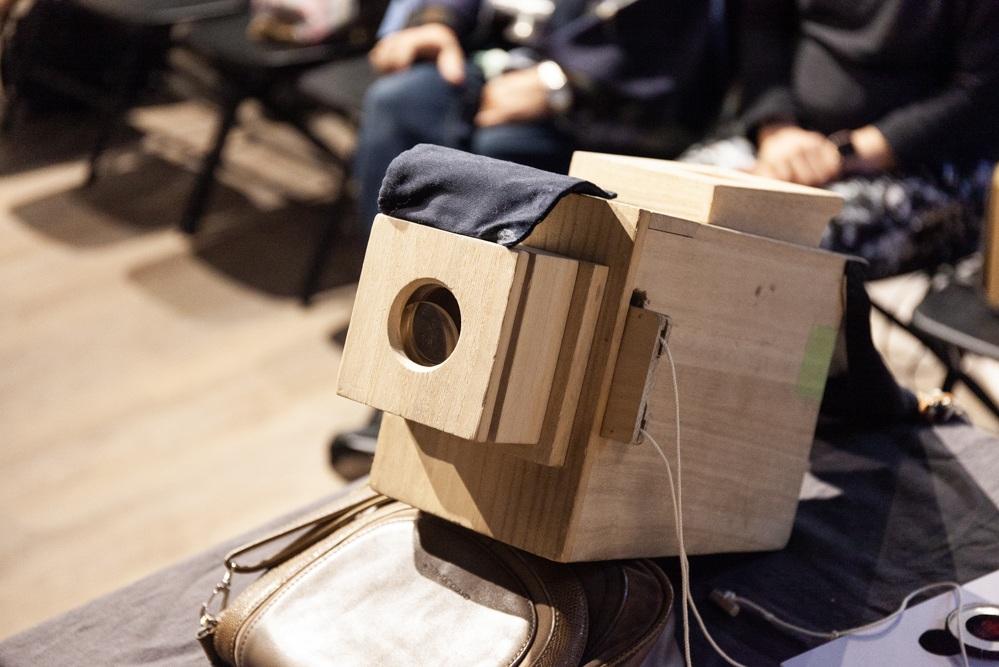 Ko Nakajima's wooden Edo Magic Lantern.