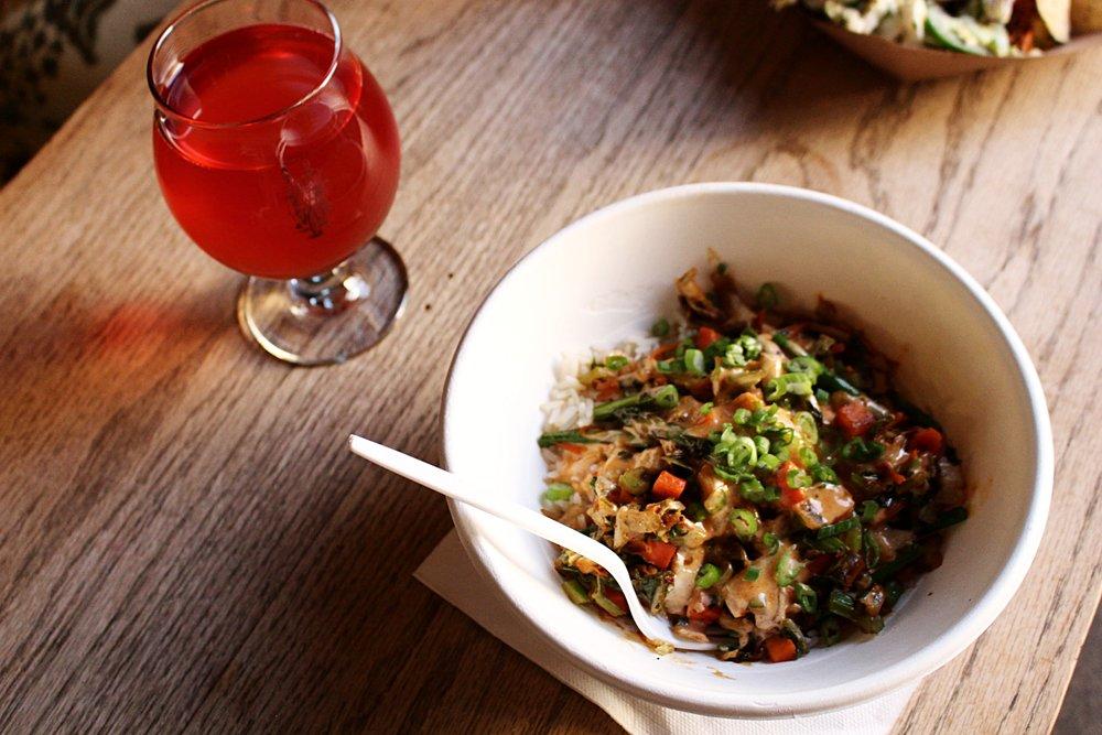 Kimchi Veggie Rice Bowl