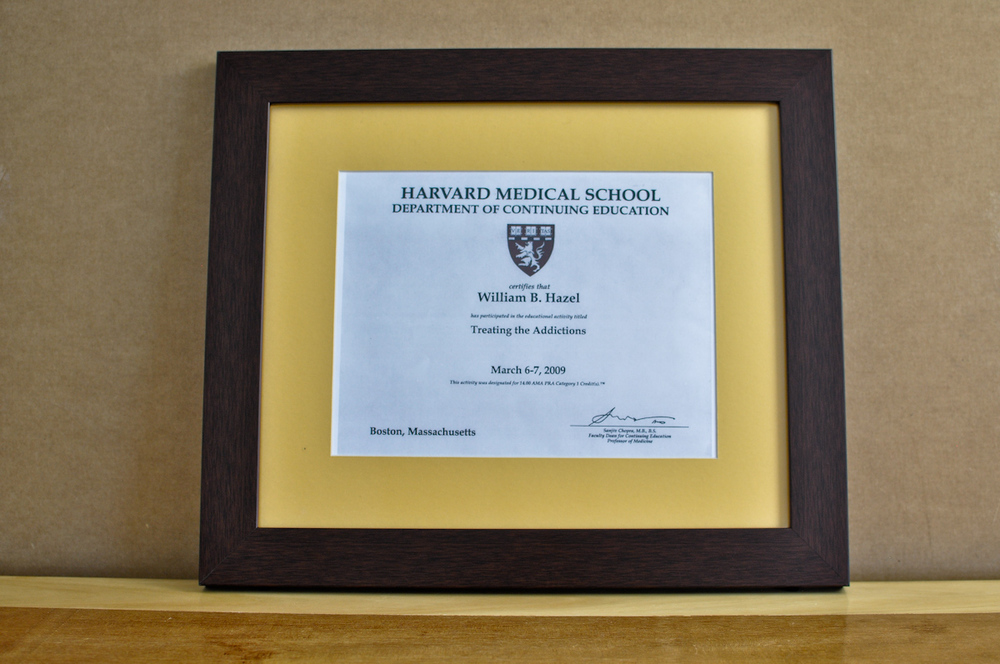 "Style: Medium Frame Color: Walnut Mat: 2"" Yellow Diploma: 11"" W x 8 1/2"" H"