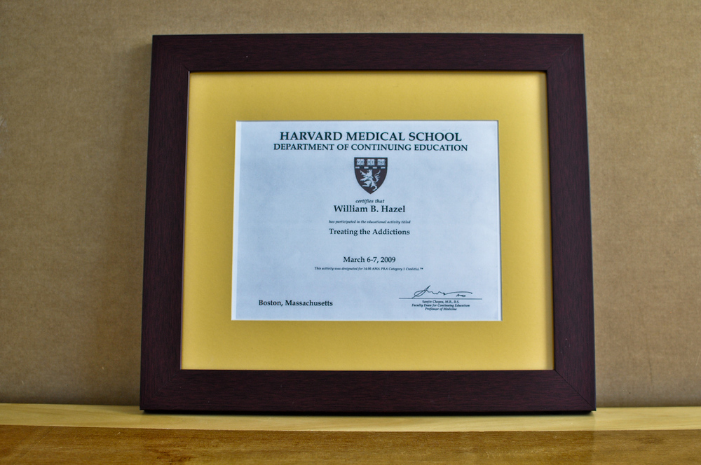 "Style: Medium Frame Color: Mahogany Mat: 2"" Yellow Diploma: 11"" W x 8 1/2"" H"