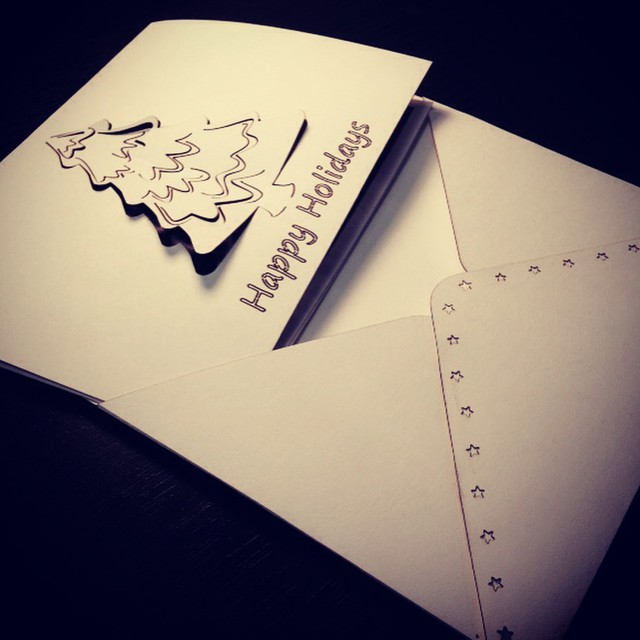Better late than never, right? #lasercut holiday cards go out today! Happy holidays to all from #theSmithFactory