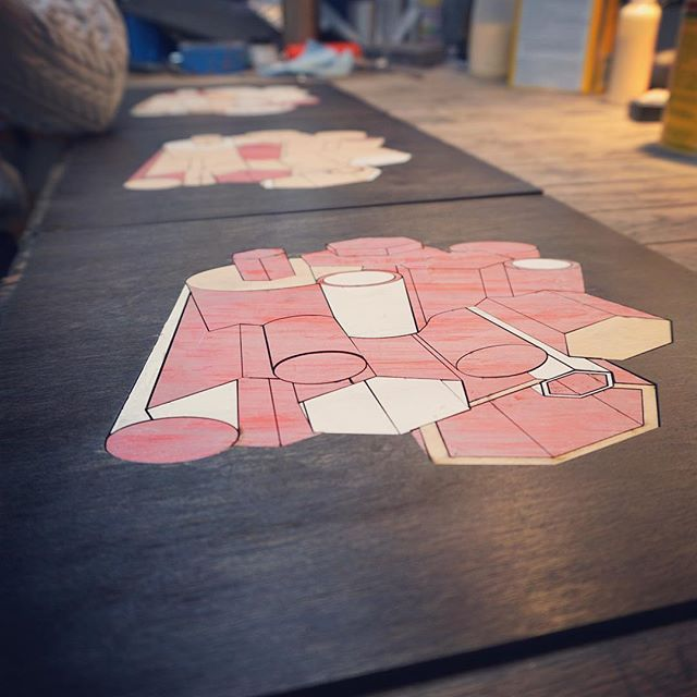 new #lasercut works by @callibeck rolling off the #SmithFactory bench. stay tuned for more.