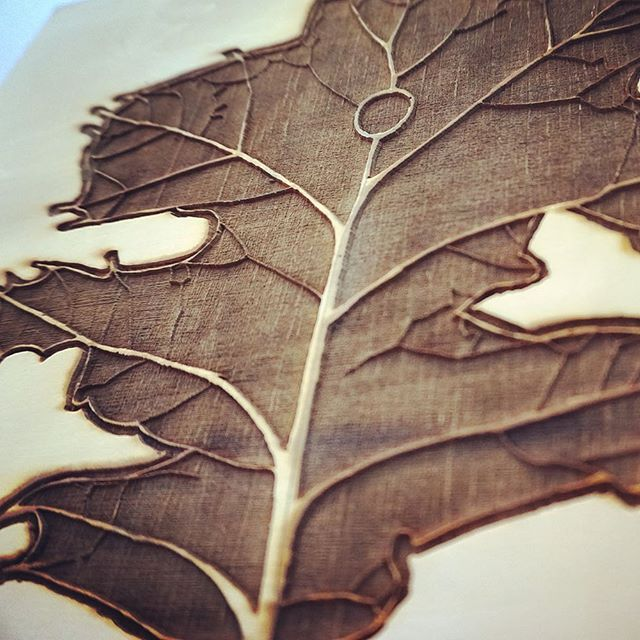 detail of #LaserEngraved wood printing plate from previous post.