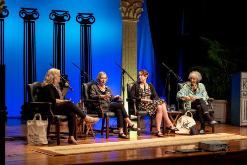 From left, Kate Tuttle, Valerie Martin, Emily Wilson and Margaret Atwood. Photo by Mark Hedden.