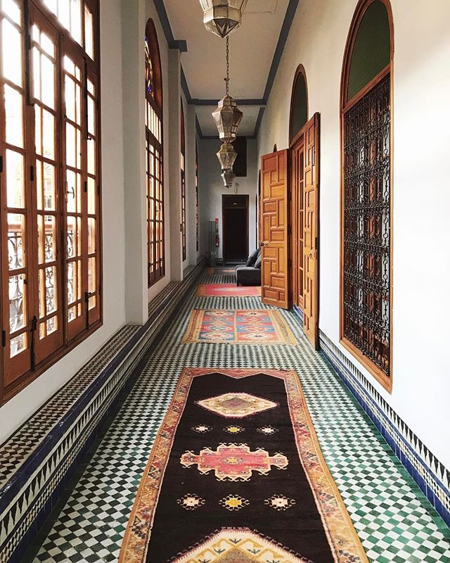 Can't beat Moroccan hallways