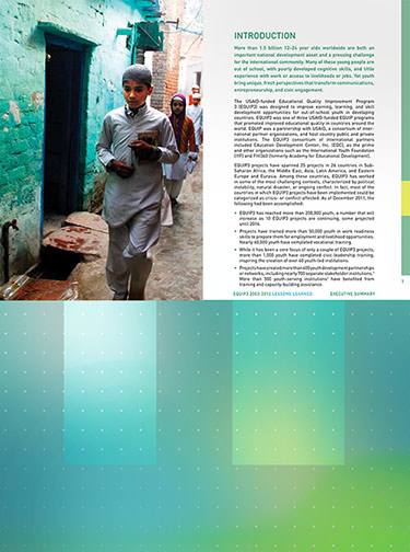 Series of publications for USAID/Education Development Center (EDC)for an Out-of-School Youth Program