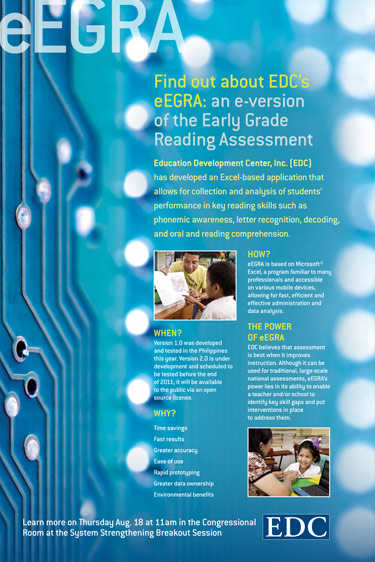 One of a series of posters for Education Development Center (EDC) to promote early grade reading application.