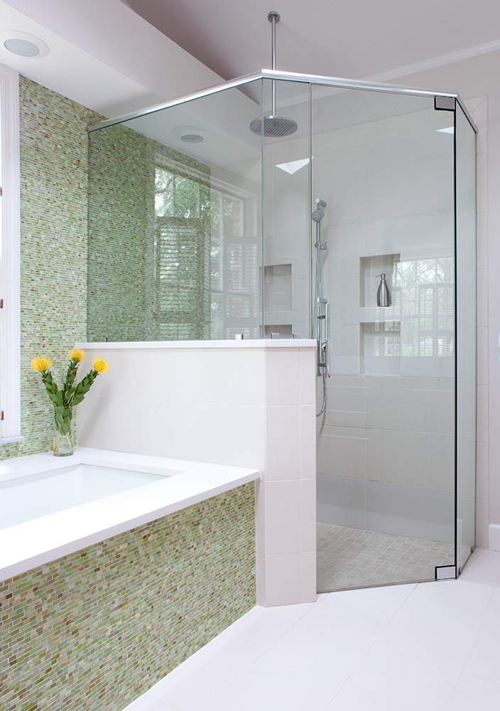 Master bathroom/glass walk in shower
