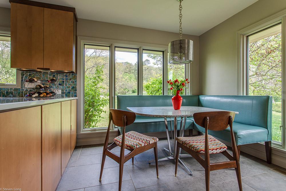 Breakfast Nook/New Pella windows