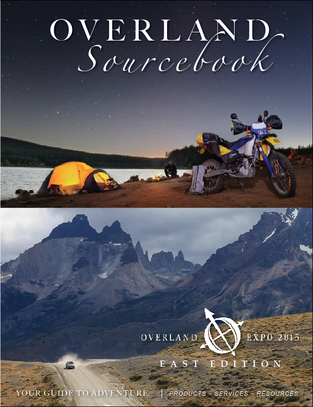 Download our 86-page Overland Sourcebook, including previous  WEST & EAST Editions
