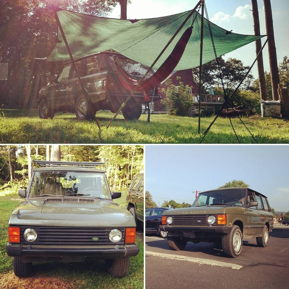 One of the original 400 or so imported to the states, this Hunter model Range Rover Classic is a solid survivor, awesome adventure mobile, happenin' hammock anchor, and my own personal mental health project :) Shane Stoehr • 1991 Land Rover Range Rover Hunter