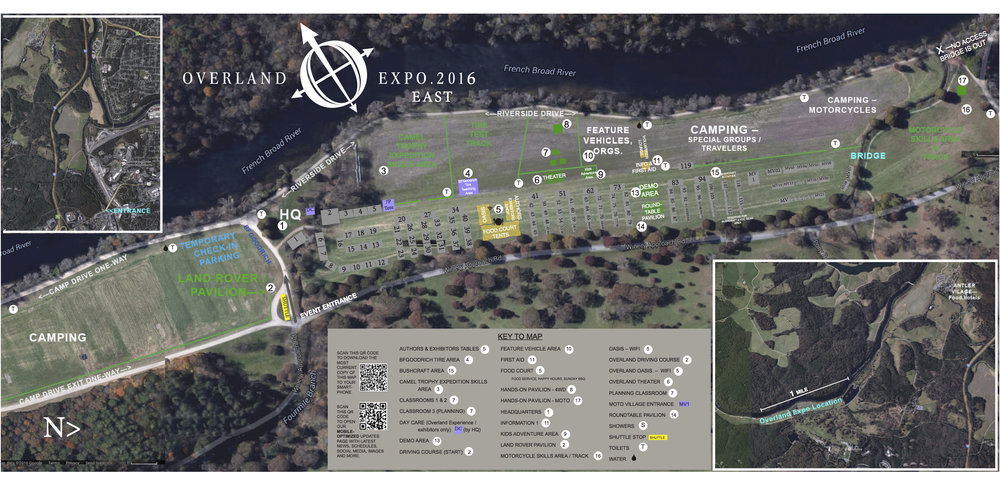 Overland Expo Venue Map