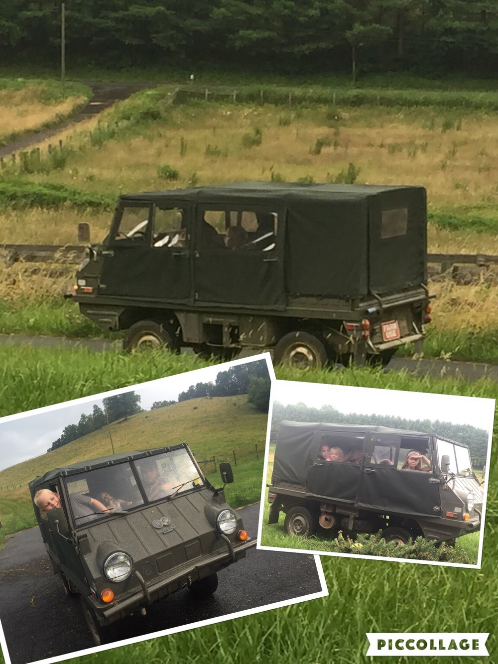 "Rare American ""Pathfinder"" version. Completely stock with less than 2000 original miles. Awesome for hauling kids around on the farm! Angela Weaver • 1971 Steyr-Puch Haflinger"