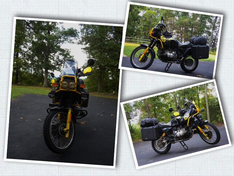 The BMW R100GS has a proud lineage winning the Paris-Alger-Dakar Rally in 1983, 84 & 85. In 2008 I was working offshore in Brazil when I found out about this bike located in Ft. Collins, Colorado. I contacted the dealer and made a purchase that day. Upon returning to the States I flew to Colorado to pick her up, we bonded during the next 16 days and 6905 miles in a round about ride back to the Blue Ridge of Virginia. We visited numerous National Parks and made a run to the summit of Pikes Peak. I've made some upgrades and still find this a very capable bike on or off the tarmac. Jim Moss • 1995 BMW R100GS
