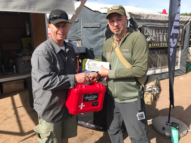 2017 WEST Grand Prize Winner Branden Powell spending some of his winnings on an Outback First Aid Kit and mount from Outer Limit Supply to replenish supplies for his  Search and Rescue Pinzgauer.