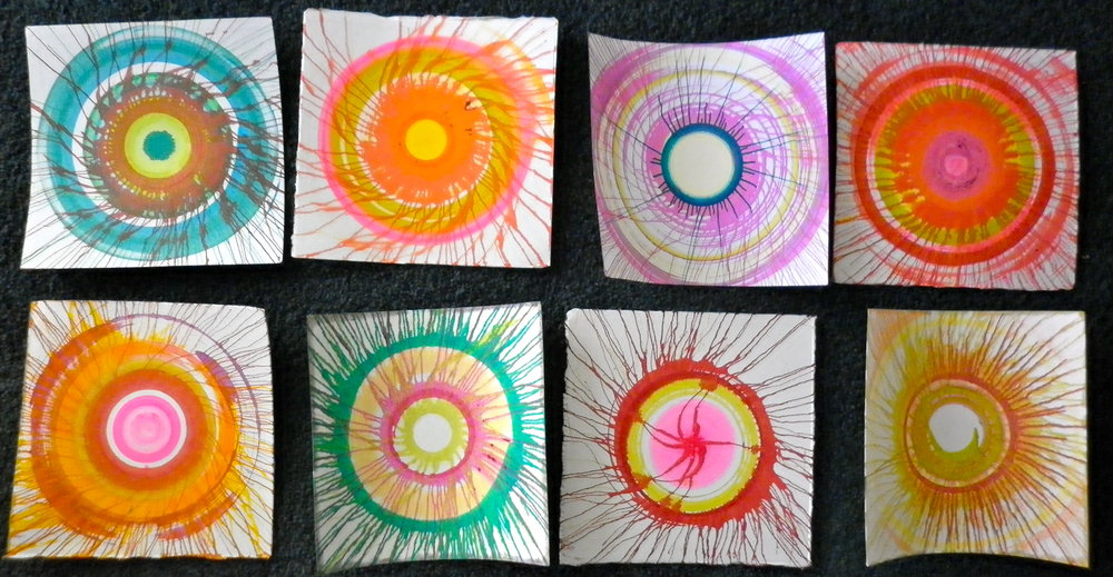 150mm x 150mm spin paintings .JPG