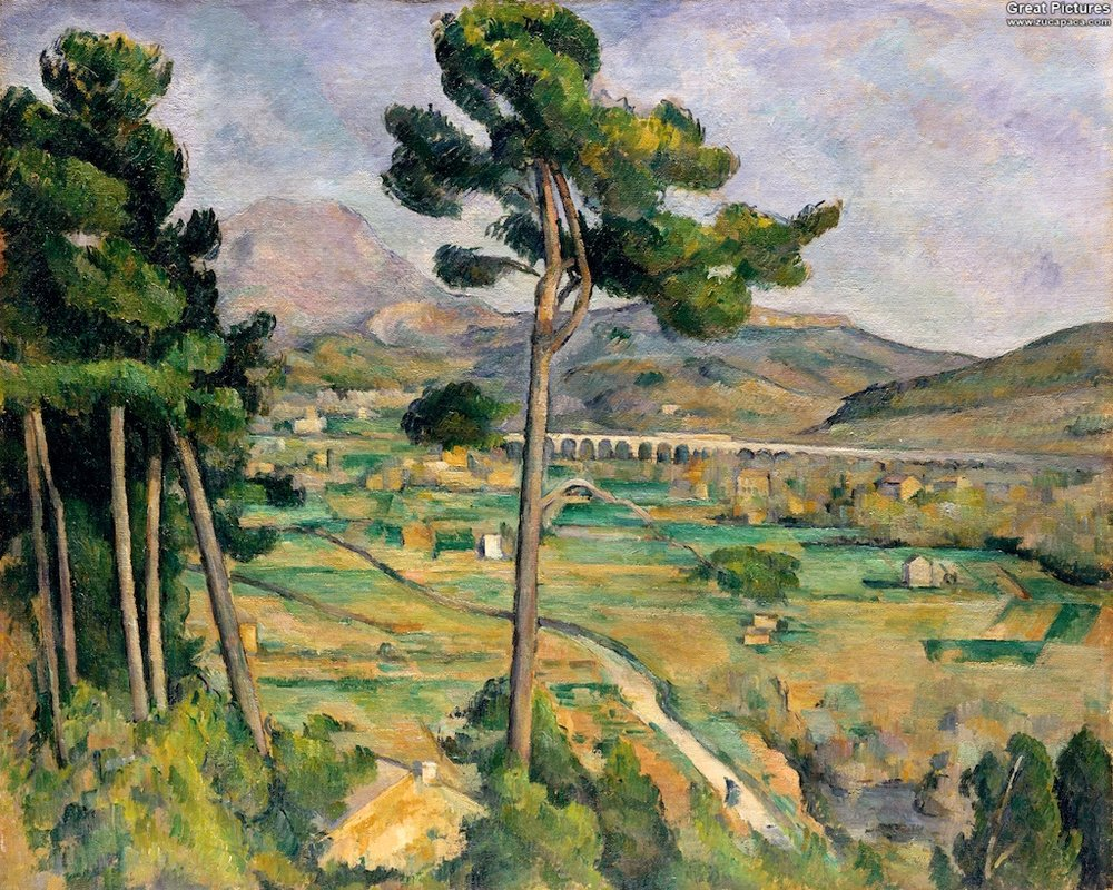 Mont Sainte-Victoire and Viaduct of the Arc River Valley 1885