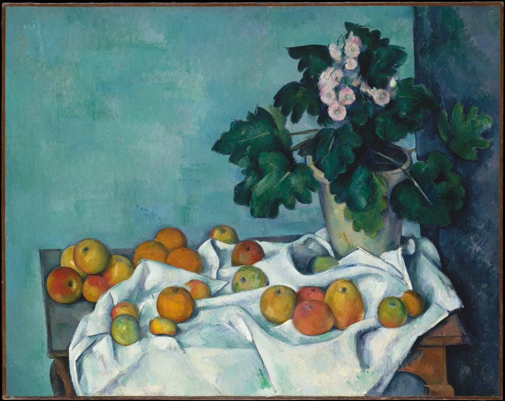 Still Life with Apple and a Pot of Primrose 1890