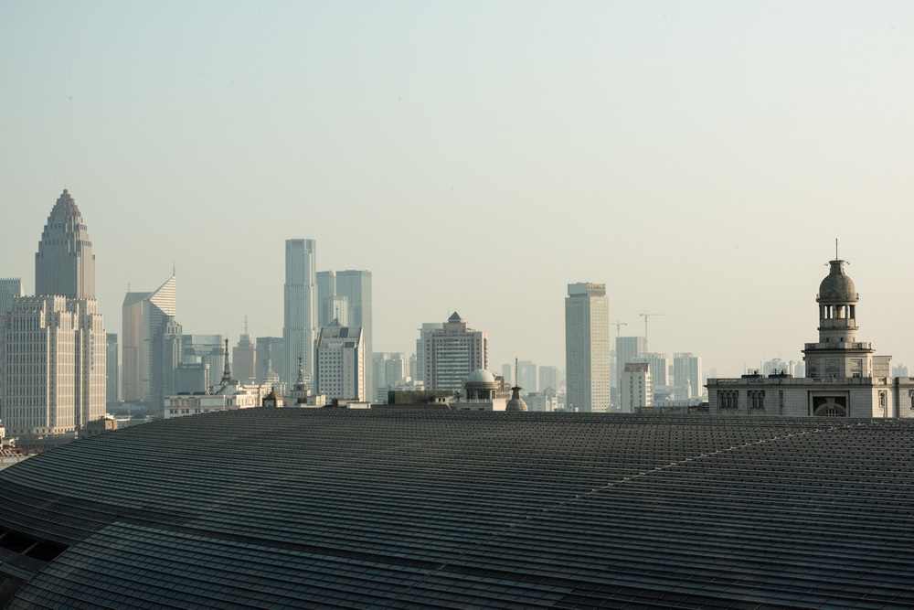 A 1/4 of the Tianjin skyline