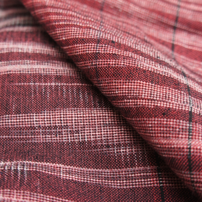 Red and Grey Handwoven Ikat