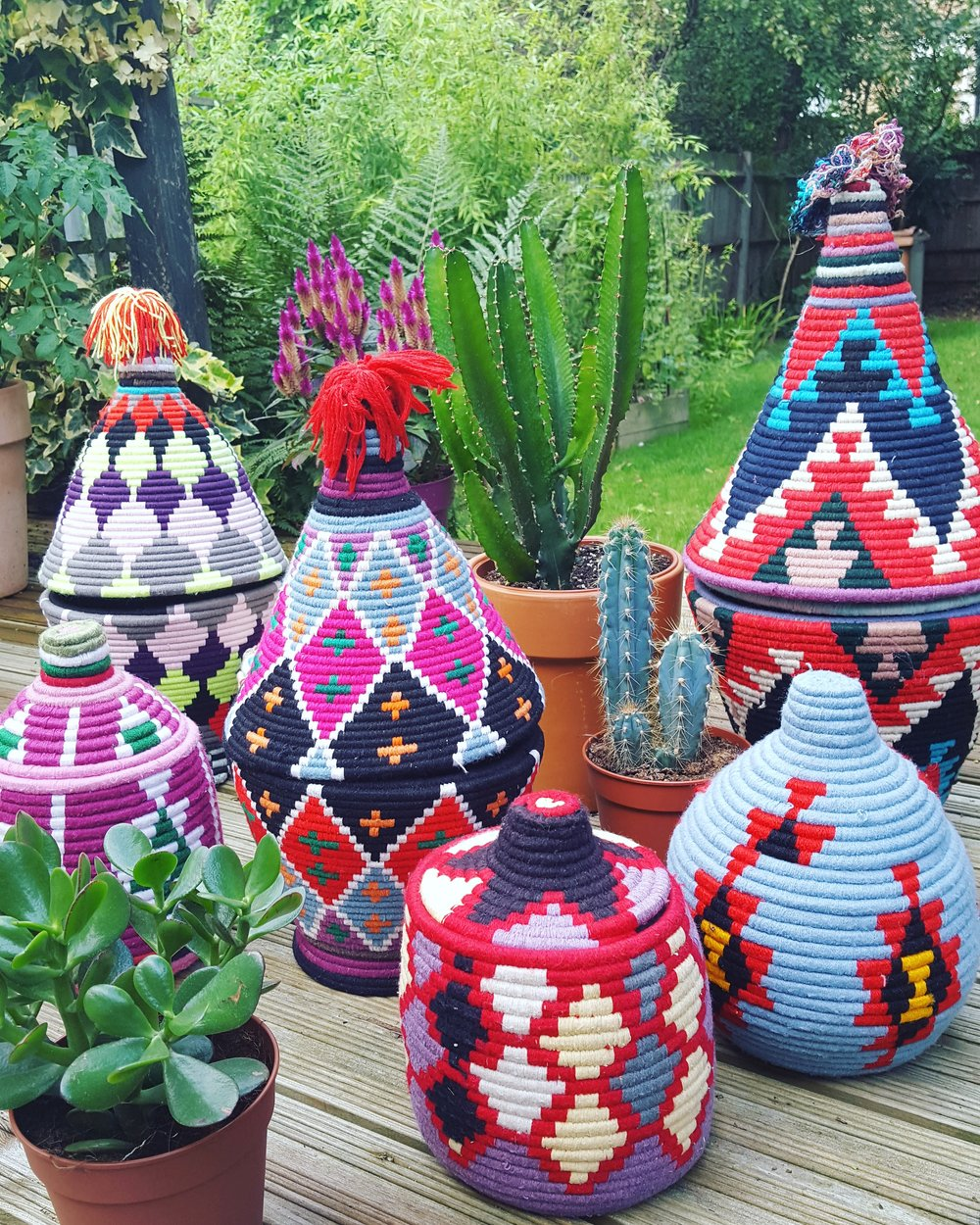 COLOURFUL BASKETS FROM MOROCCO