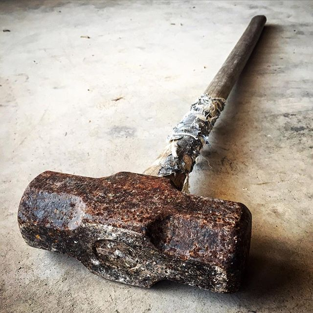 And the winner is...@victorwrench Thanks for submitting this pic of one sick sledge! This is a 3rd (going on 4th) generation tool that has helped build a house that is still in the family. You can't manufacture what blood, sweat, and tears produces.  #legacy #heritage #blood #sweat #tears #sledge #hammer #sledgehammer #family #heirloom #familyheirloom #texas #forgedwithgrit